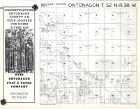 Ontonagon T52N-R38W, Ontonagon County 1959